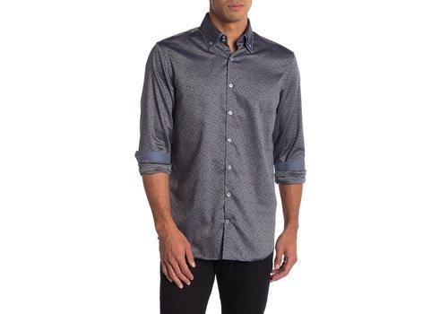 Lindbergh Jacquard Shirt W. Double Collar L/S