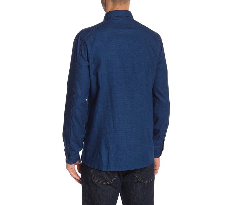 Blue Cotton Shirt L/S