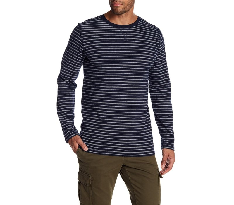 Striped O-Neck Tee L/S Style: 30-47098