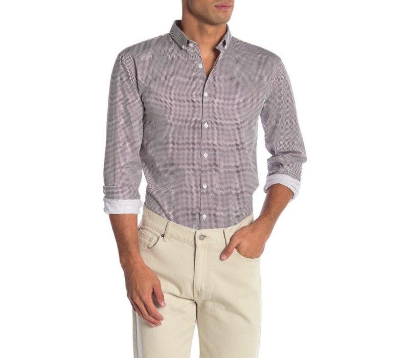 Colour Block Small Print Shirt L/S Style: 30-21094