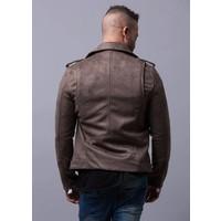 Imitated Suede Biker Jacket Style: 2-36027