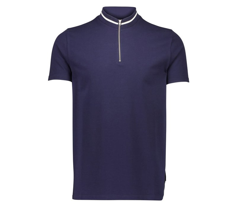 High-Neck Zip Polo S/S Style: 30-404013US