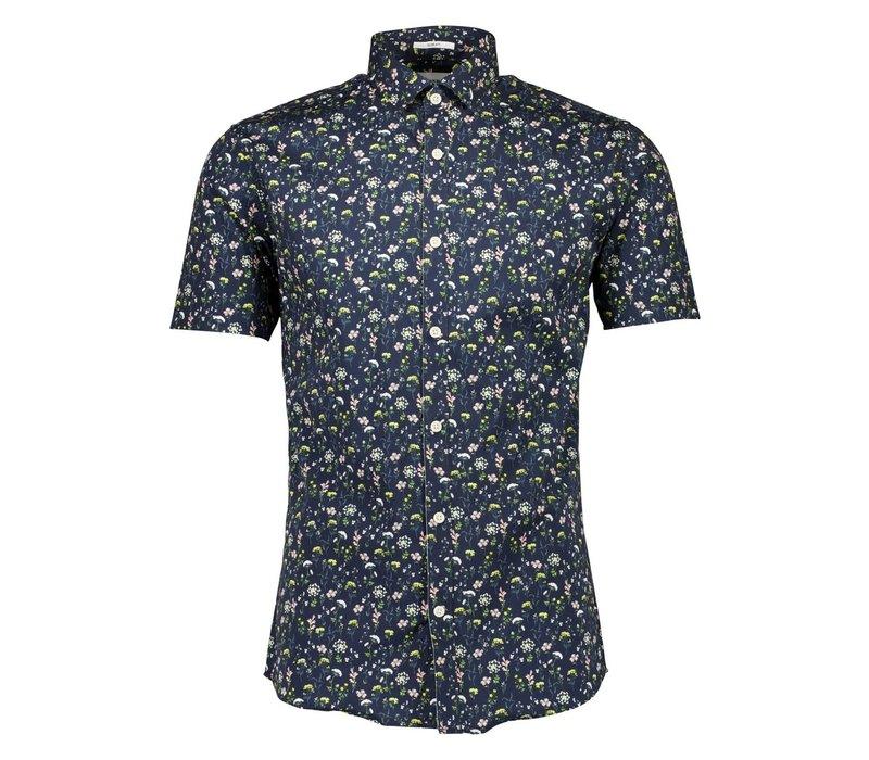 Floral AOP Stretch Shirt S/S: 30-203043US