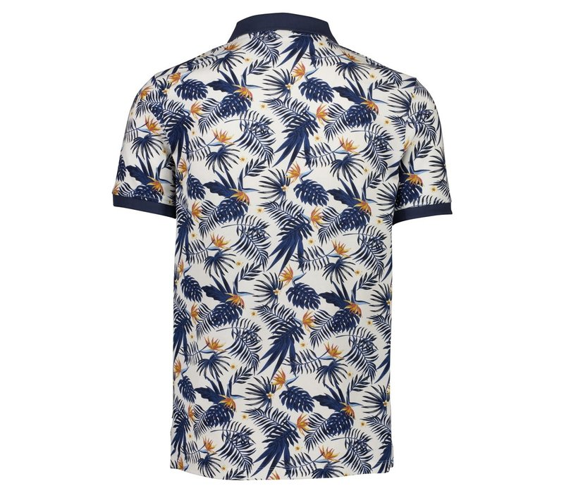 AOP Flower Polo S/S Style: 30-440011US