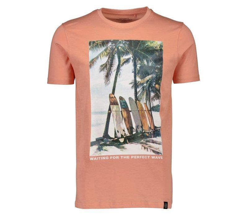 Surf Print Tee S/S Style: 2-400054US