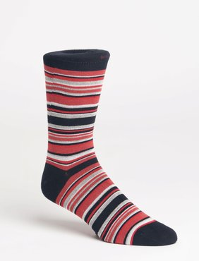 Lindbergh Multi-Striped Bamboo Sock