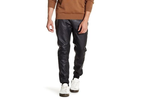 Lindbergh Leather pants with zippers Style: 30-18112