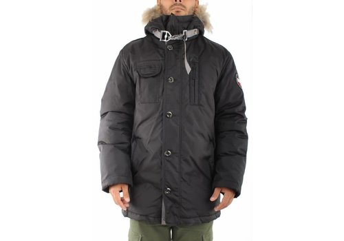 Lindbergh Long Parka Coat W. Real Fur