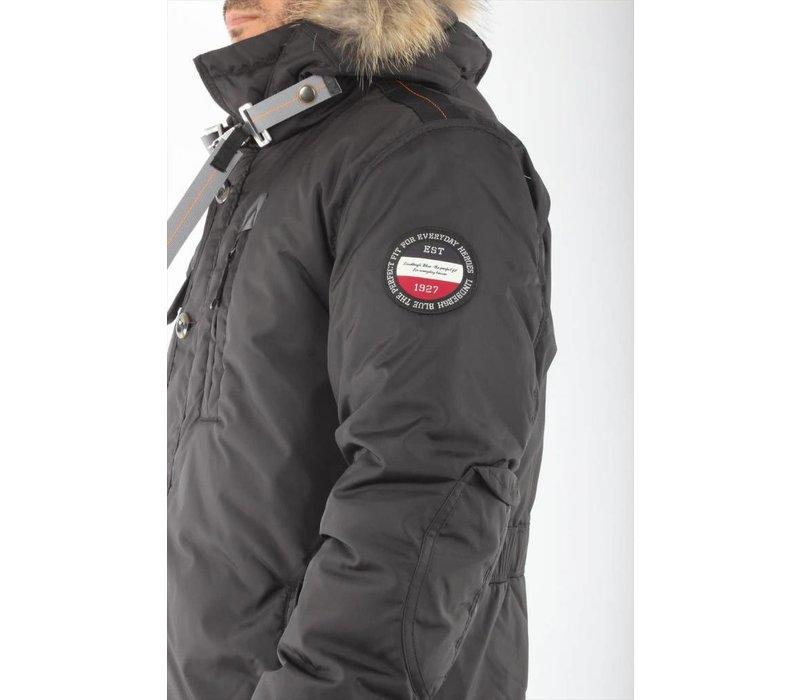 Long Parka Coat W. Real Fur: 30-32004