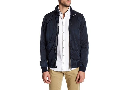 Lindbergh Short Garment Dyed Zip Jacket