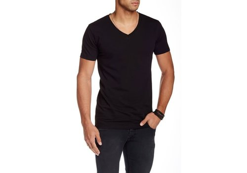 Lindbergh Men's Stretch V-Neck Tee S/S
