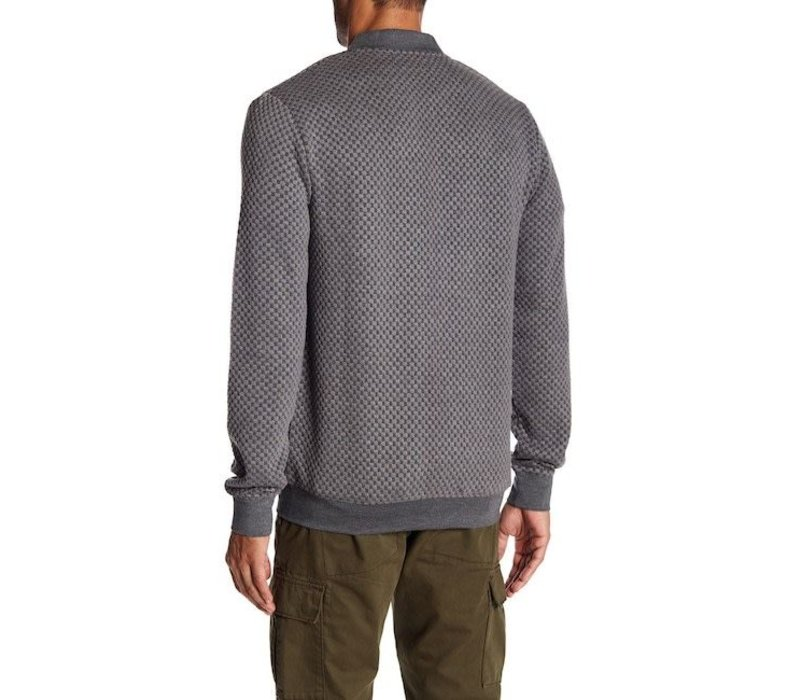 Quilted zip cardigan