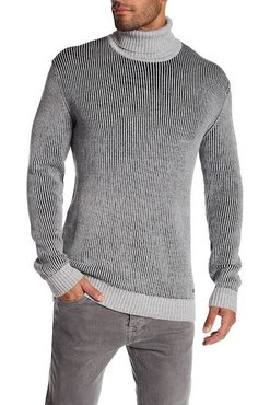 Lindbergh Two-Tone Roll Neck Knit
