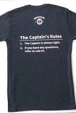 CAPTAIN'S RULES  SHORT SLEEVE TEE SHIRT