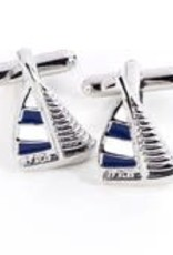 BeyBerk Sail Boat Cufflinks
