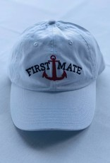 BOATHOUSE FIRST MATE WHITE ANCHOR HAT
