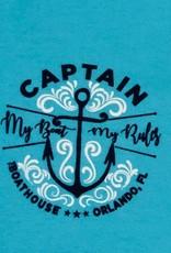 BOATHOUSE I'M THE CAPTAIN, MY BOAT MY RULES LONG SLEEVE TEE SHIRT