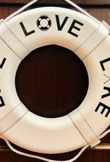 "Jim Buoy CUSTOMIZED LIFE RING ""LIVE LOVE LAKE"""