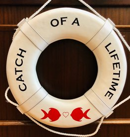 """Jim Buoy CUSTOMIZED LIFE RING """"CATCH OF A LIFETIME"""""""