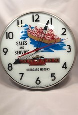 BJ Collectibles VINTAGE JOHNSON OUTBOARD MOTOR WALL CLOCK