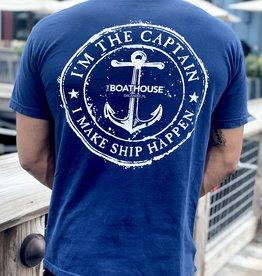 I'M THE CAPTAIN I MAKE SHIP HAPPEN S/S TEE SHIRT