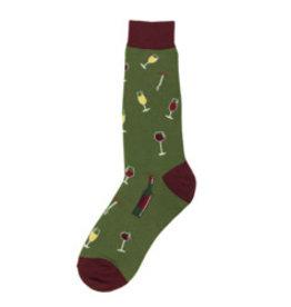 Foot Traffic Men/'s Pair Socks Green I/'m kind of a Big Dill Pickle Mens Socks New