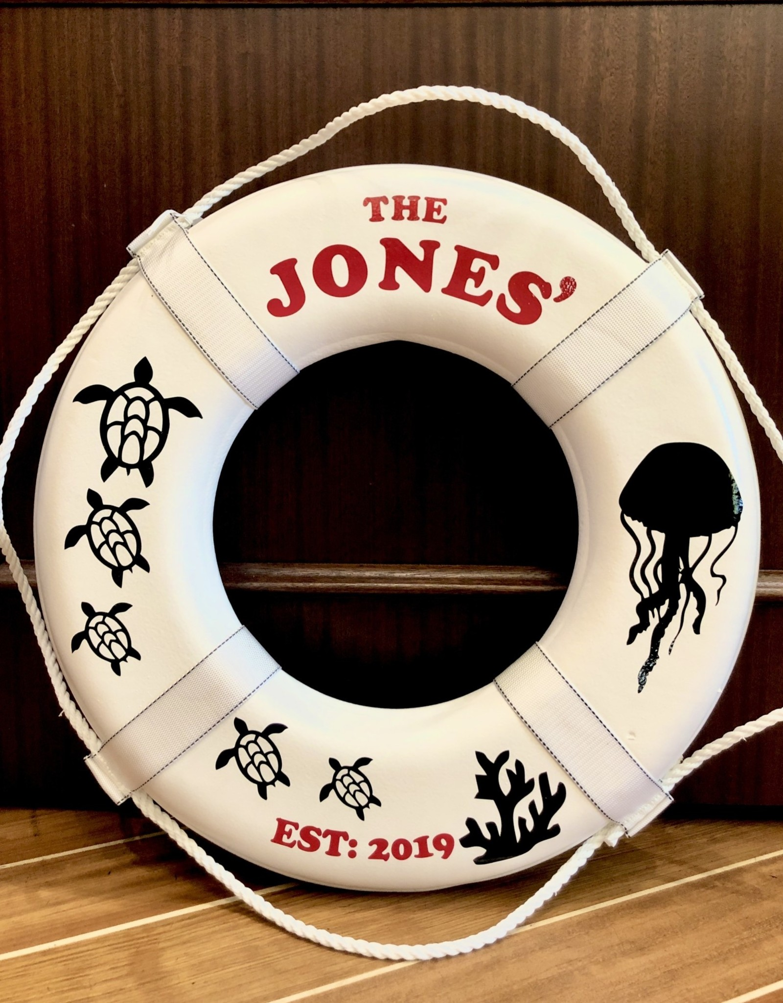 "Jim Buoy CUSTOMIZED LIFE RING ""SEA LIFE"""