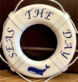 "Jim Buoy CUSTOMIZED LIFE RING ""SEAS THE DAY"""