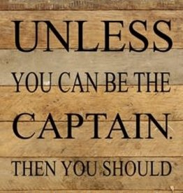 Second Nature SN ALWAYS BE A CAPTAIN SIGN