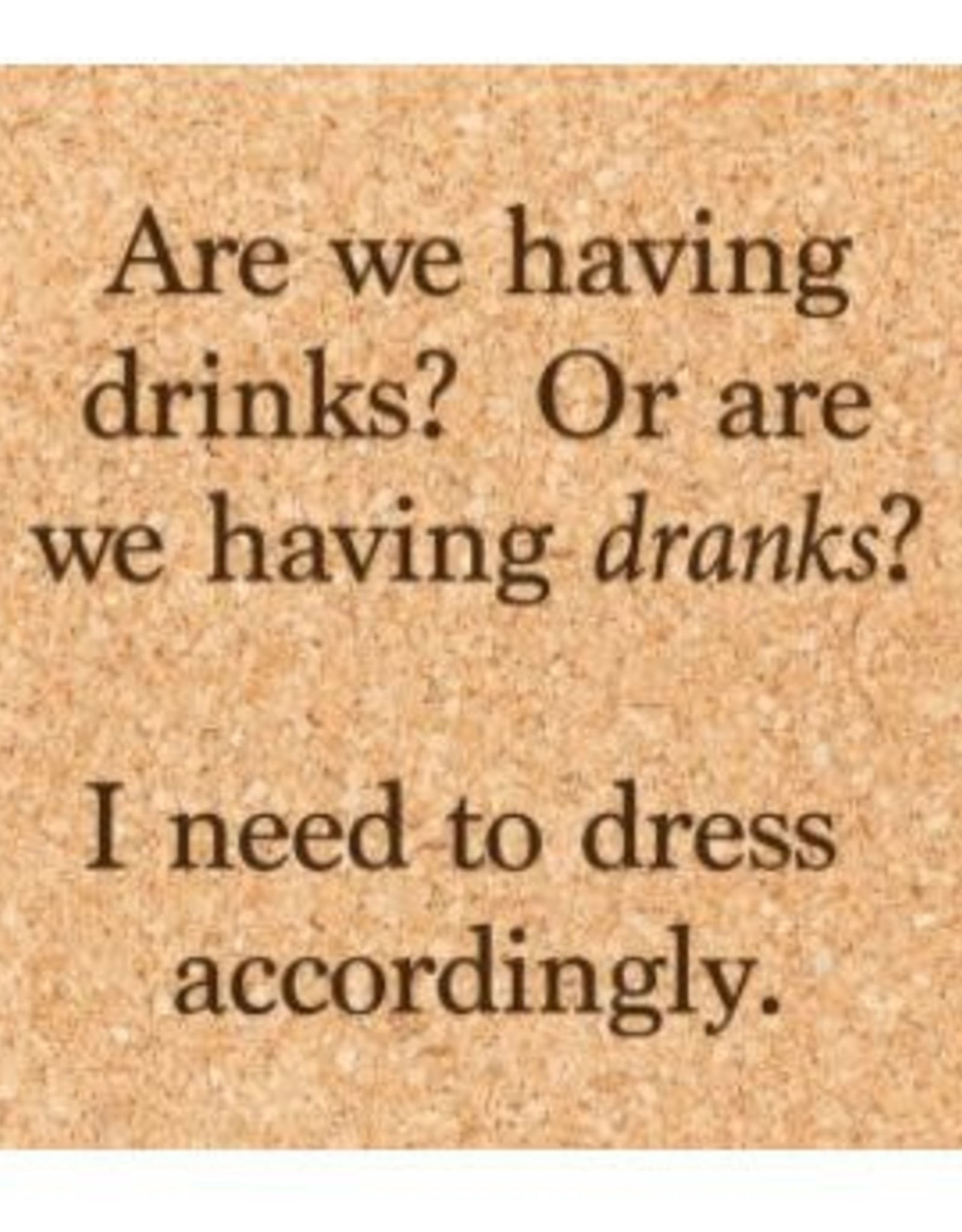 Ellenbee Home DRINKS OR DRANKS COASTER