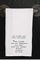Second Nature GOOD FRIENDS OFFER ADVICE TOWEL
