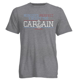 NOBODY'S PERFECT EXCEPT THE CAPTAIN SHORT SLEEVE TEE