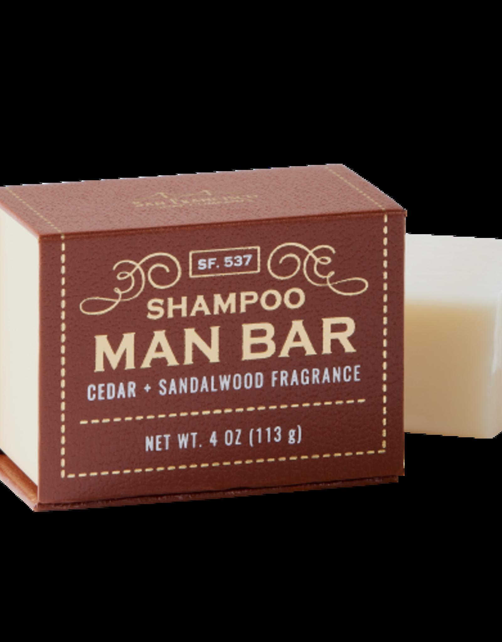 SAN FRANCISCO SOAP COMPANY SHAMPOO BAR CEDAR AND SANDALWOOD