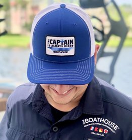 CAPTAIN IS ALWAYS RIGHT PATCH HAT NAVY