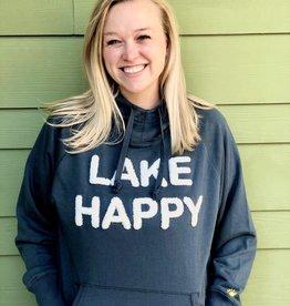 Lake Happy LAKE HAPPY HOODED SWEATSHIRT SLATE