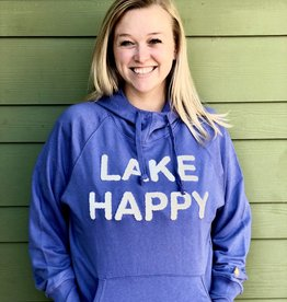 Lake Happy LAKE HAPPY HOODED SWEATSHIRT BLEACHED DENIM