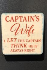 BUCKET WONDERS CAPTAIN'S WIFE COASTER MAGNET