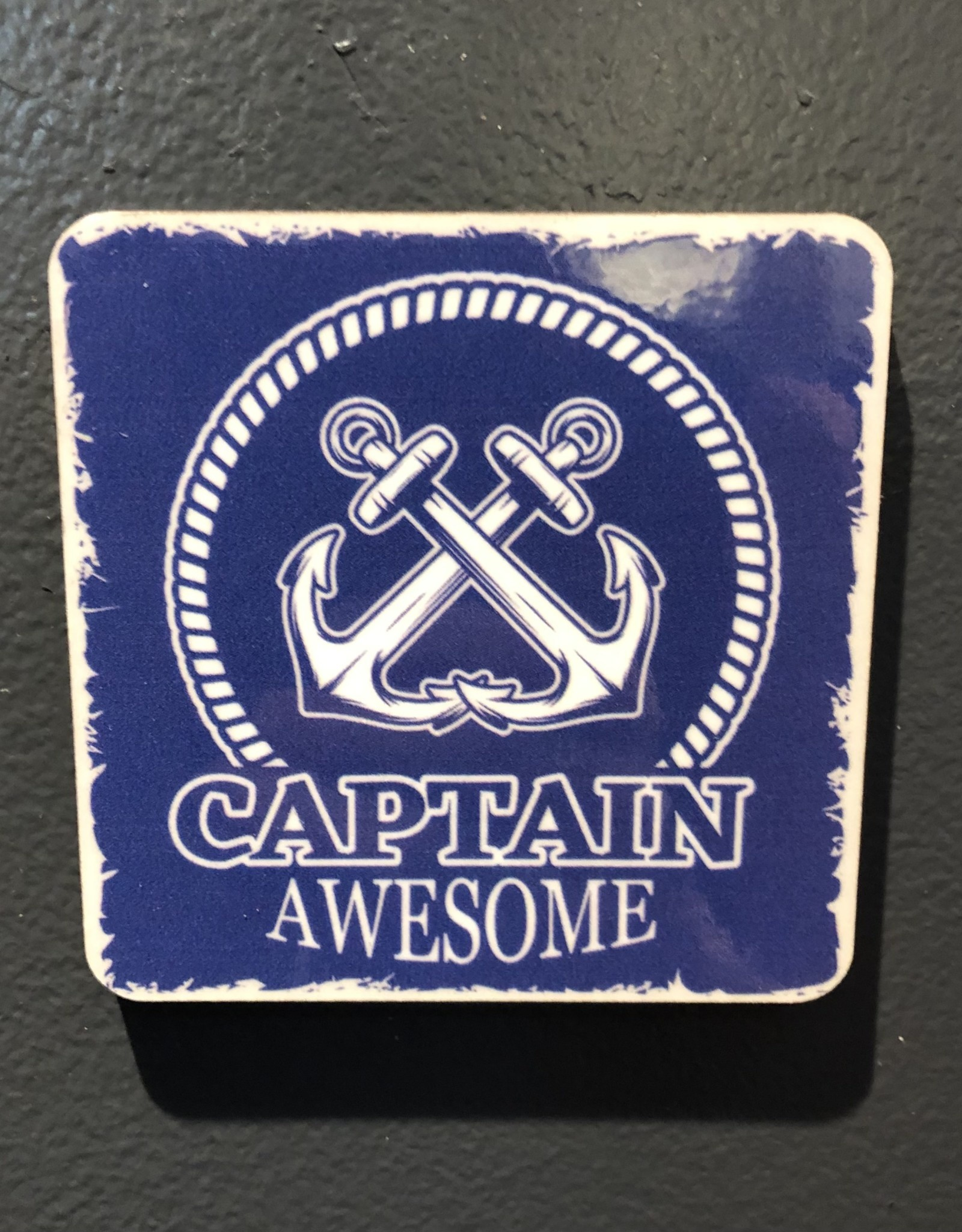 BUCKET WONDERS CAPTAIN AWESOME COASTER MAGNET