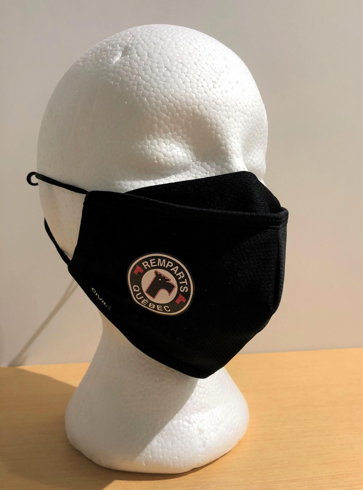 Masque reutilisable en polyester - Noir