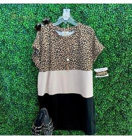 Leopard Colorblock Dress