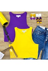 Purple Halter Crop Top