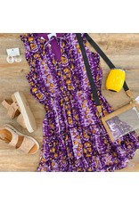 Purple/Yellow Snake Print Dress