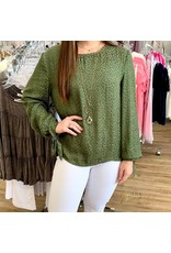 Olive Tied Long Sleeve Top
