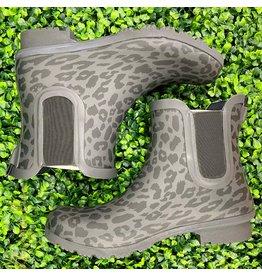 Matte Leopard Chelsea Rain Boots
