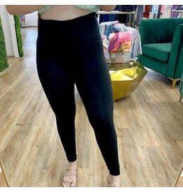 Anchored Full Length Leggings - Black