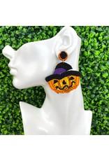 Halloween Jack O Lantern Earrings