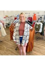 Rust Mock Neck Sleeveless Bodysuit