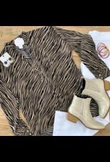 Camel Printed Long Sleeve Top