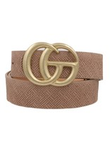 """Taupe Weave 1.25"""" GO Belt"""