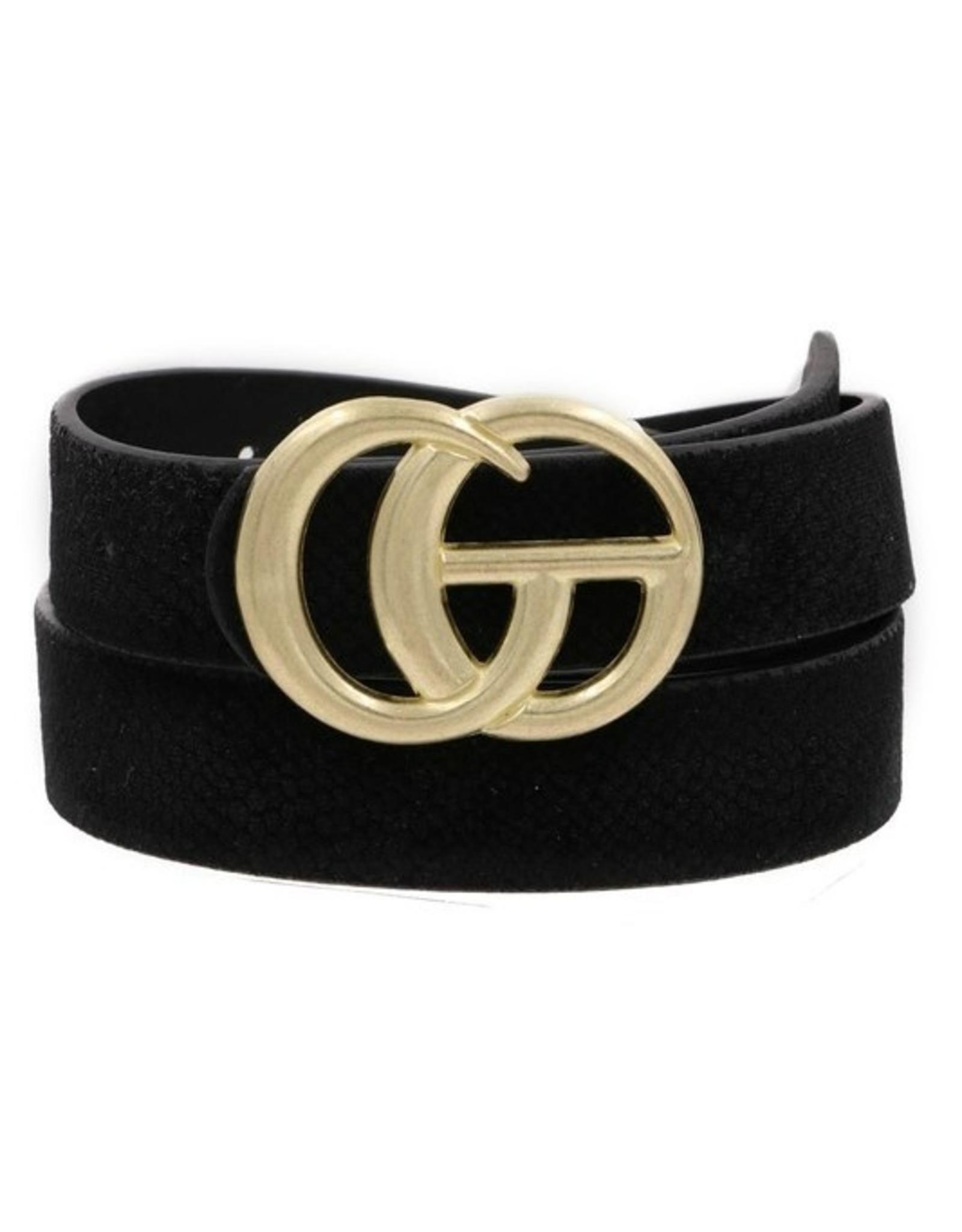 "Black Felt 1"" GO Belt"